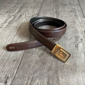 Bally Italian Leather Brown Belt Size 42 Inches